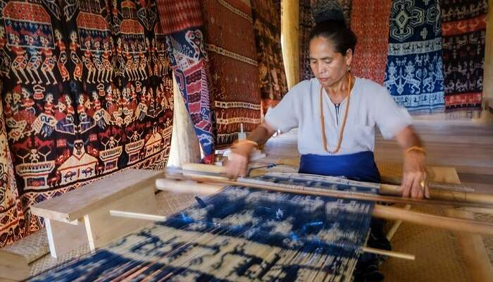 The tradition of ikat weaving in Nusa Tenggara, Bali