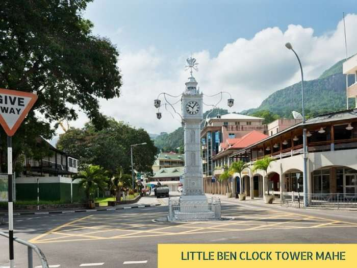 The Little Ben clock tower in Victoria city