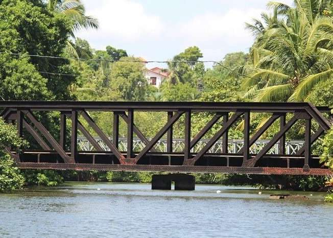 Bridge on the way to bentota