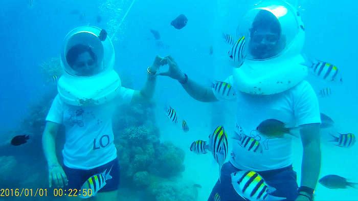 Underwater Sea Walking In Andaman Island