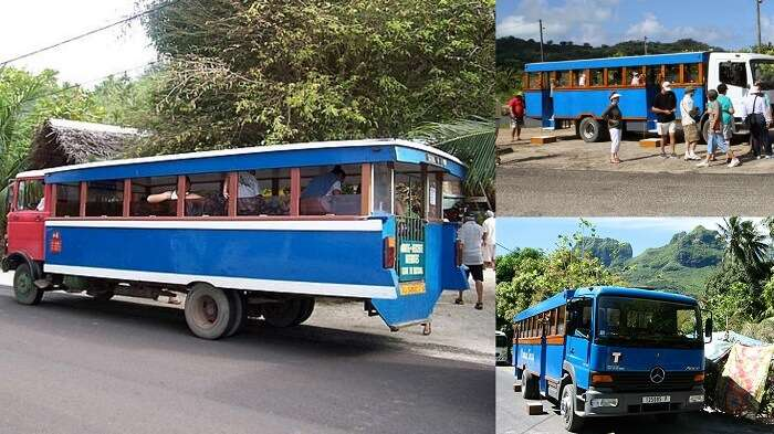 Le Truck is the most economical way to travel on your Bora Bora honeymoon