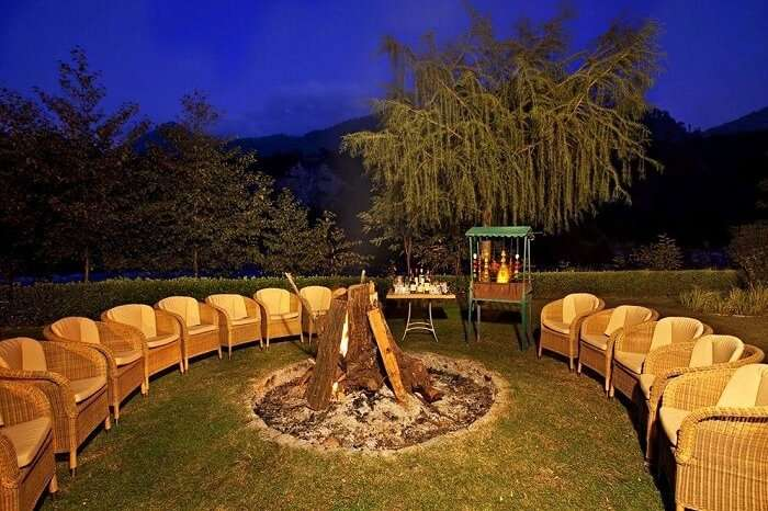 Span resort and spa bonfire