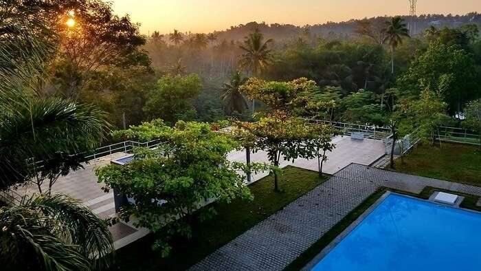 View from the rooftop pool at Mekosha Retreat