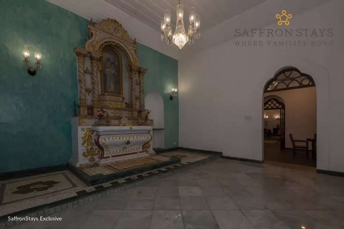Chapel at Nossa Bela Casa in Goa