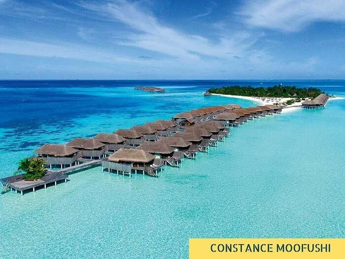 The beautiful resort at Constance Moofushi in Maldives