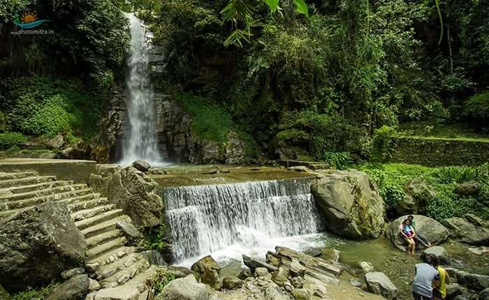 The stunning cascading falls of Banjhakri in Gangtok