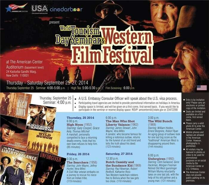 An invite for a film screening at American Center library