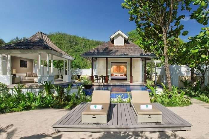 A snap of the Banyan Tree resort that is among the best resorts in Seychelles