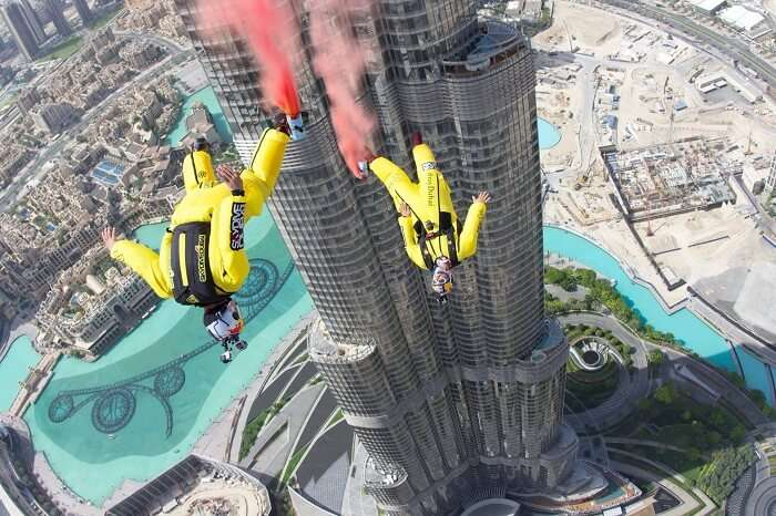 Basejumpers who jumped from the Burj Khalifa Tower