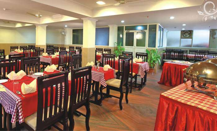 Dining hall of the Bellmount resort
