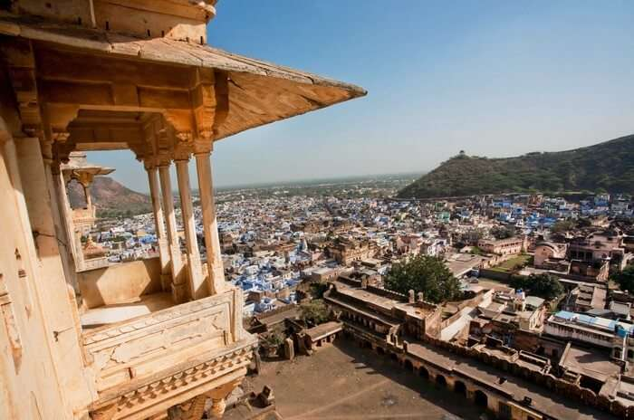 A view of the city from Bundi Palace