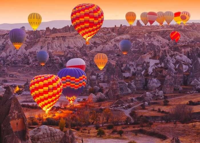 Cappadocia beautified with hot air balloons