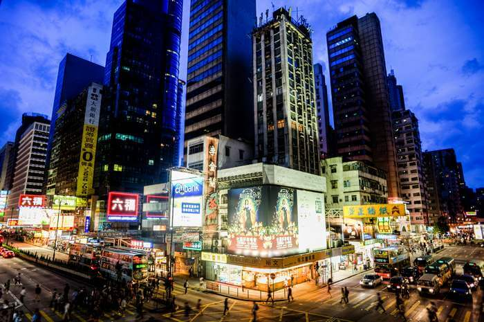 The bustling scene of Causeway Bay  one of Hong Kongs major shopping hubs
