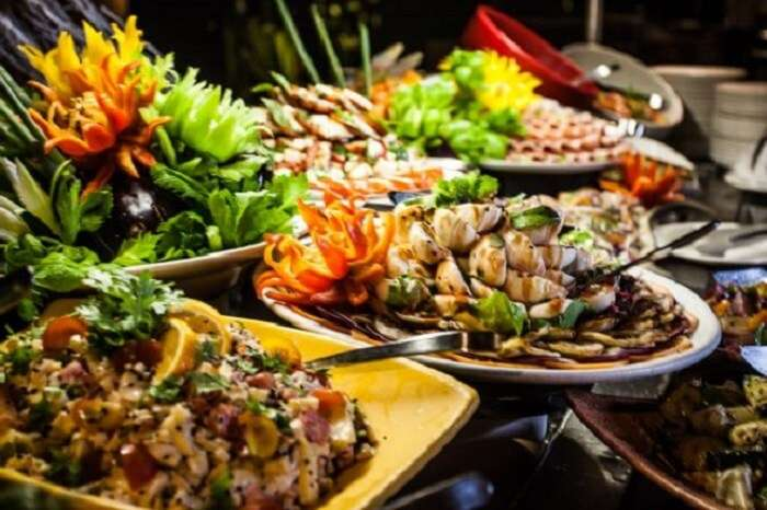 Creole dishes at Paradise Sun Resort in Seychelles