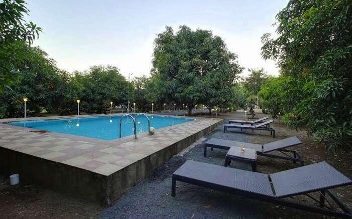 pool at daksh resort