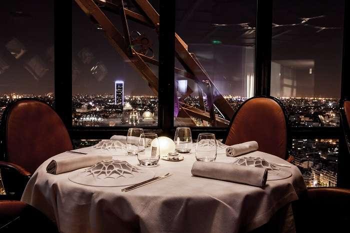 Dinner at Jules Verne restaurant in Eiffel Tower