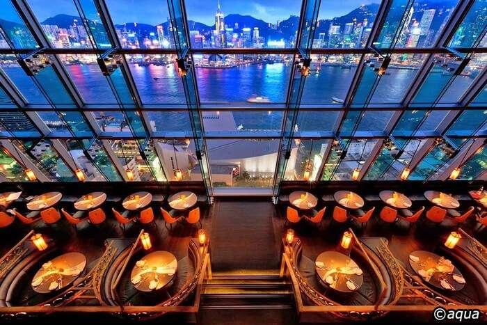 Top shot of Eye Bar - one of the best offerings of Hong Kong nightlife
