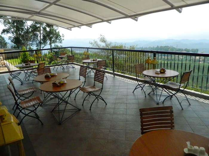 The balcony at Forest Glade makes it one of the best resorts in Munnar
