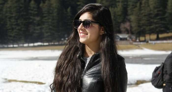 Girl posing for a picture in Dalhousie