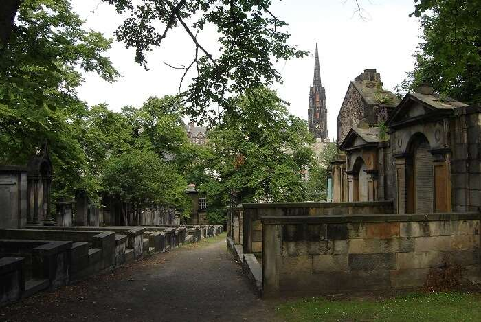 A snap from the haunted Greyfriars Kirkyard in Scotland