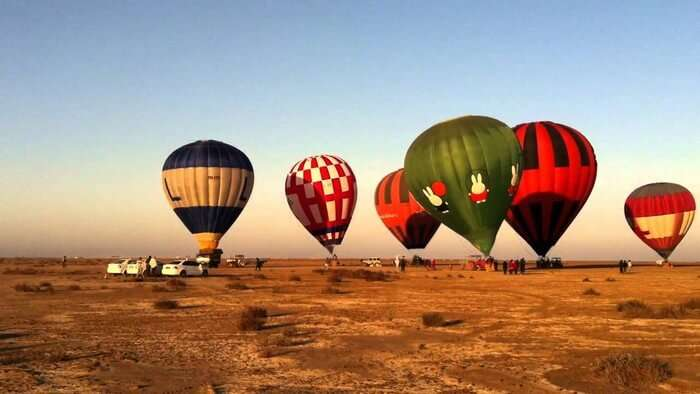 Hot air ballooning in Kutch is one of the most enthralling experience