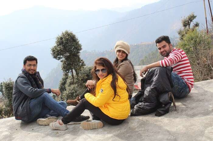 Anchal and her friends at Kanatal