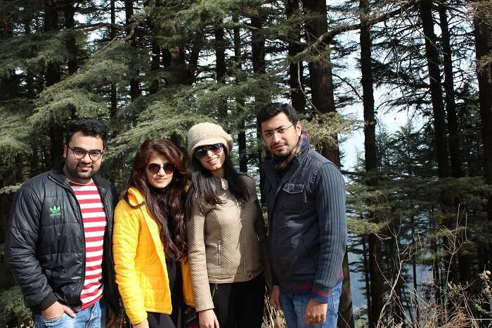 Aanchal with her friends in Kanatal