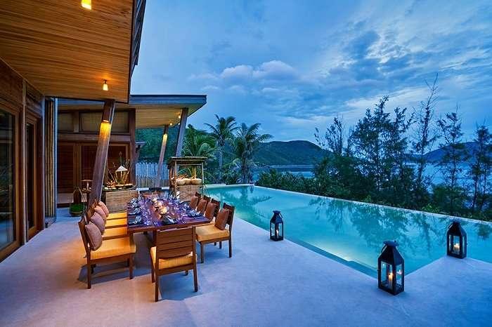 Barbecue inside villa at Six Senses Con Dao in Vietnam