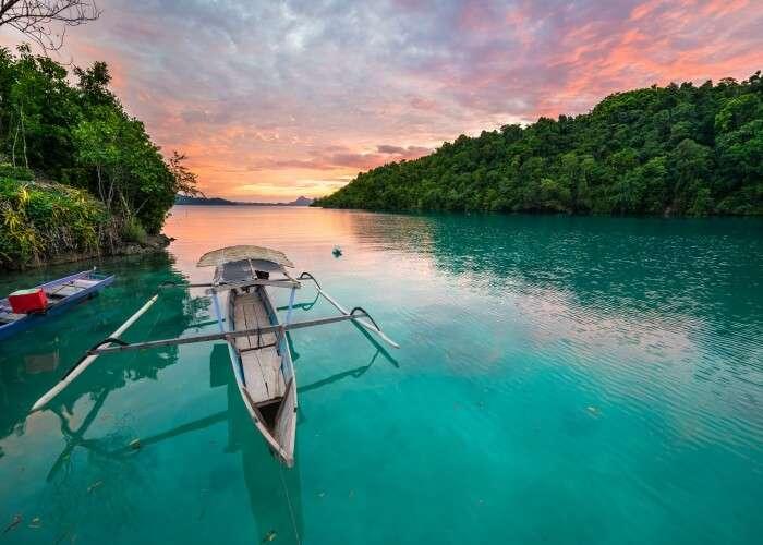 Captivating sunset in Indonesia