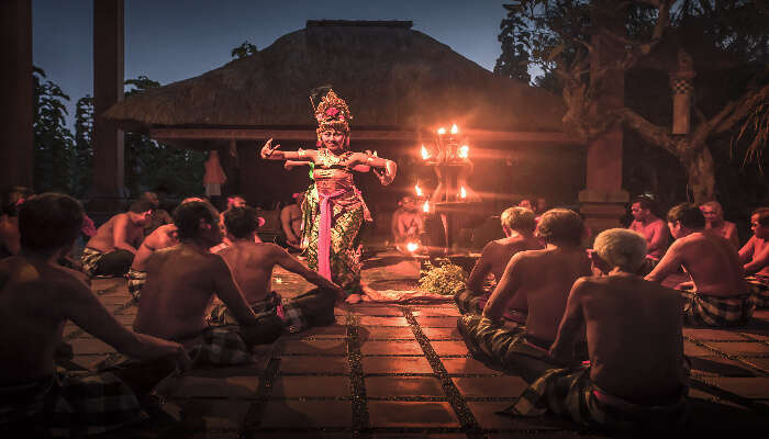 Kecak dance at amphitheater