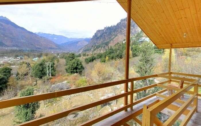Manzana Woodlet Cottages verandah