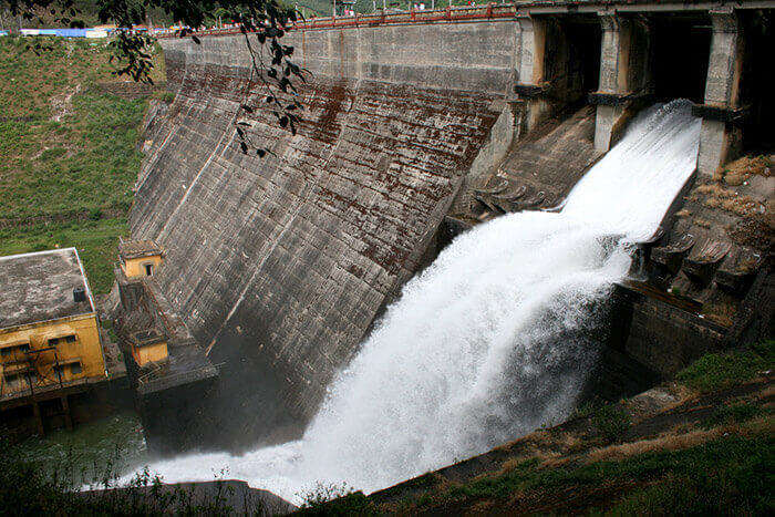 The Mattupetty Dam located on the Mattupetty Lake near Munnar