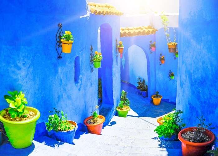A beautiful day at the Blue City of Morocco, Chefchaouen