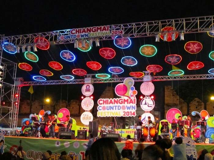The countdown music fest at Chiang Mai organises one of the most musical new year celebration in Thailand