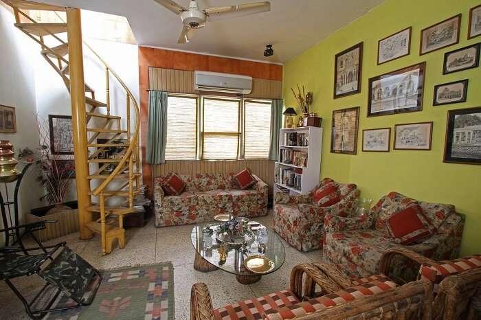 The beautiful interiors of the Nina Kochhar Homestay in Delhi
