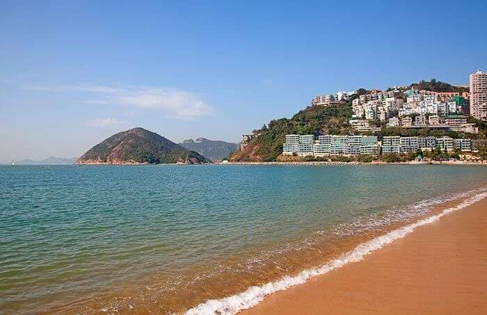 The lavish beach at Repulse Bay in Hong Kong