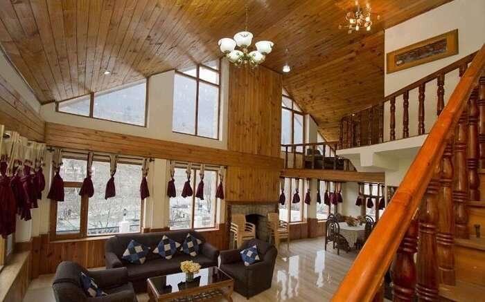 RiverSide Cottages Manali interiors