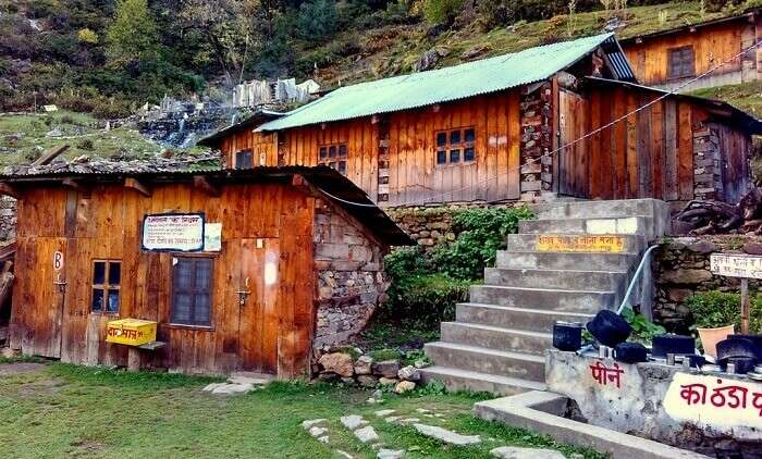 The dharamshala rooms at Kheer Ganga