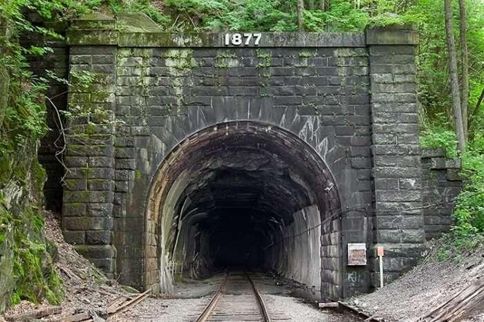 The haunted Screaming Tunnel located near Niagara Falls at Ontario