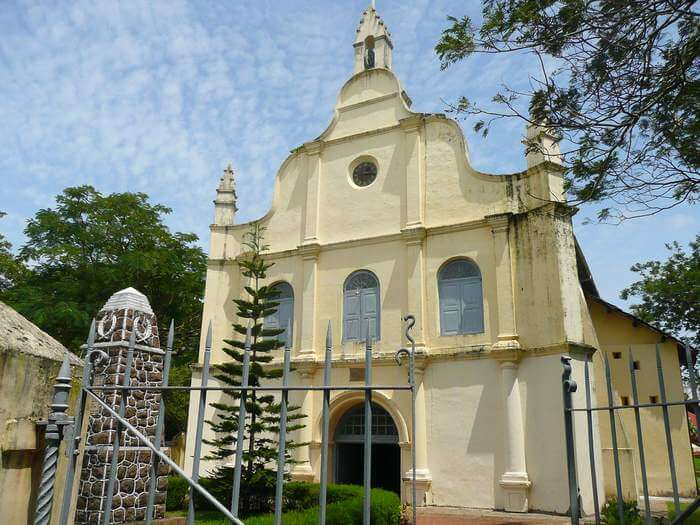 The quaint little St Francis Church in Cochin is one of the best places to visit in Cochin
