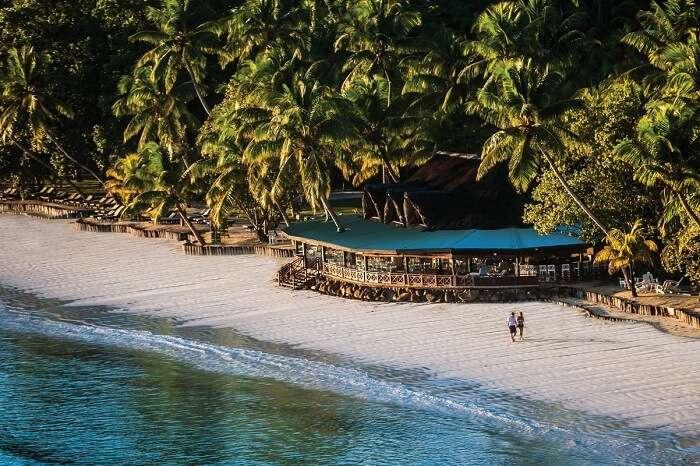 St Pierre Beach Restaurant at Paradise Sun Resort in Seychelles