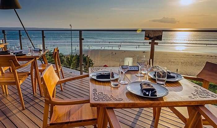 cosy open dining area for couples in St. Regis Bali Resort