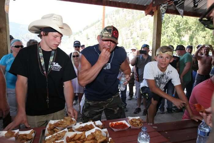 The balls eating competition in Montana