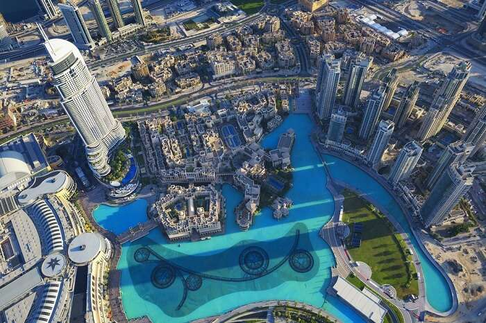 The view from At The Top - Sky on the 148th floor of the Burj Khalifa