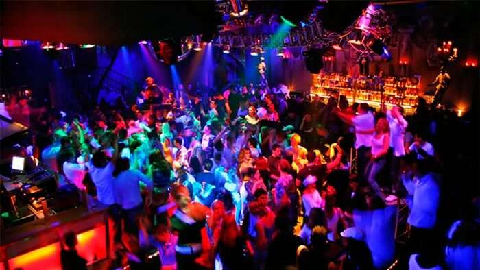 The overcrowded Tito's club in Goa