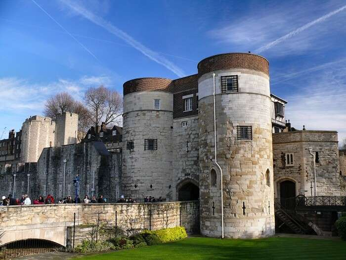 The main entrance to the Tower of London