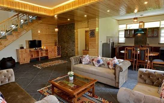 Treetops Cottages living room
