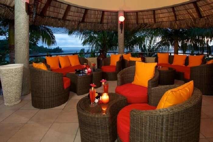 A shot of the La Gaulette Bar at the Valmer Resort