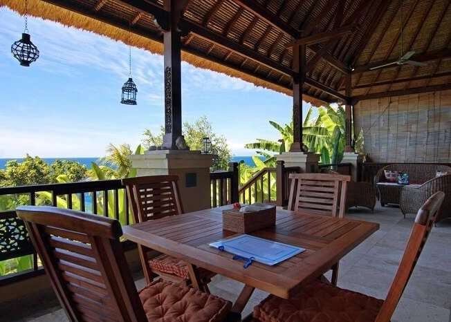 dining area in villa sarchi, one of the best Bali private pool villa