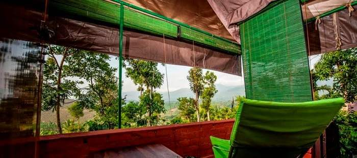 View from a glam in Wayanad, Kerala